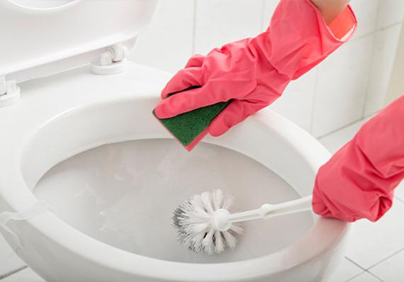artículo de limpieza sobre limpieza y desinfección de inodoros