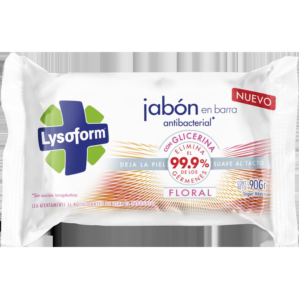 lysoform jabón en barra antibacterial floral 90 g